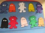 10 Little Monsters Flannelboard